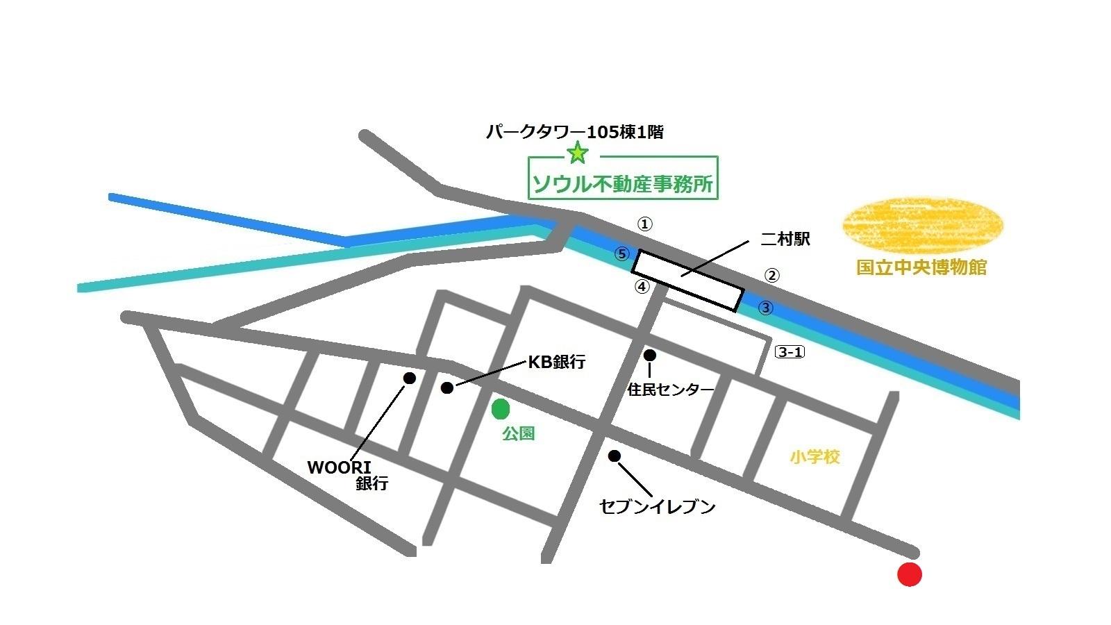 韓国 二村 K DINING THE맛있는 밥집 地図