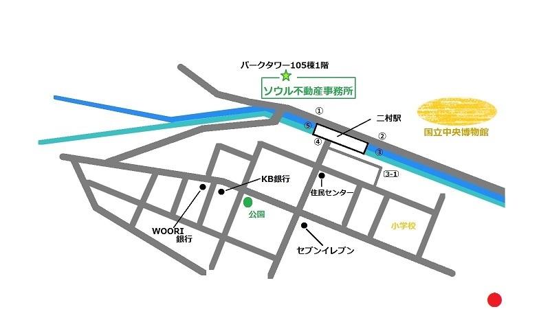 韓国 二村 TEISTREET 地図