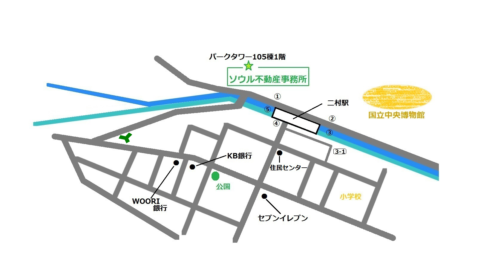 トレジウム 地図