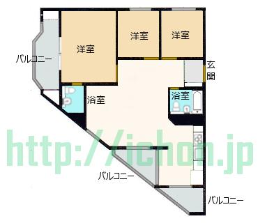 ヨンサン 二村洞 東部セントレビル 平面図
