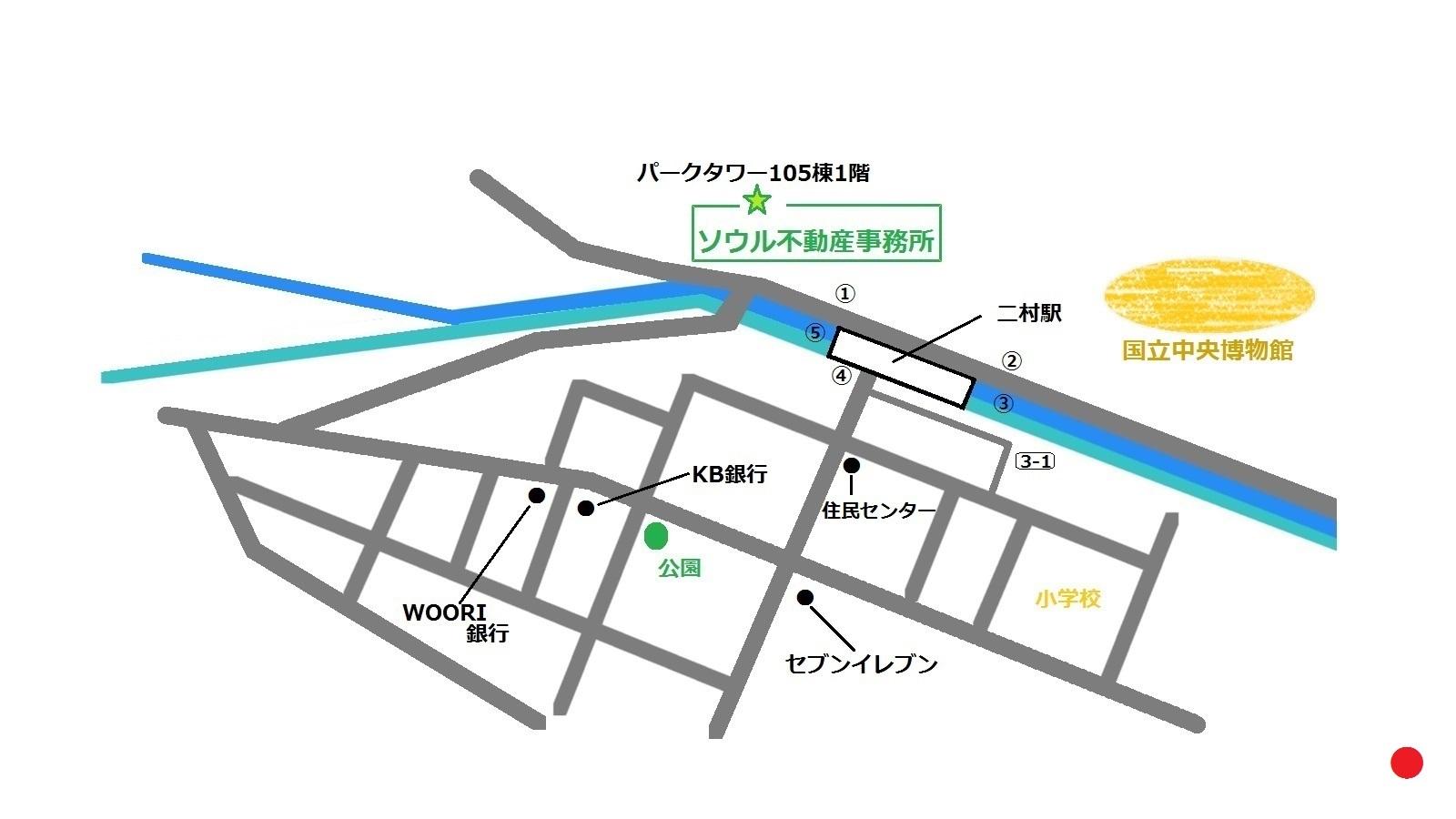 韓国 二村 ウマル 地図