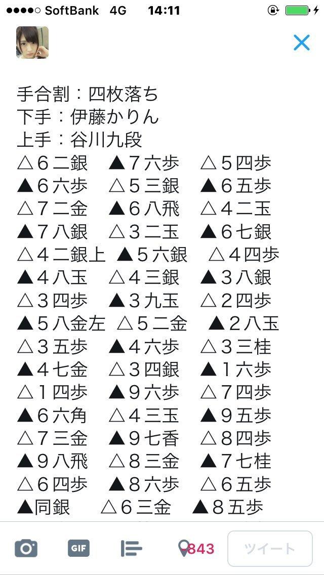 人間将棋 姫路の陣 伊藤かりん 谷川浩司九段 棋譜