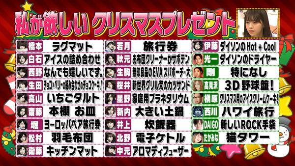 乃木坂46 私が欲しいクリスマスプレゼント