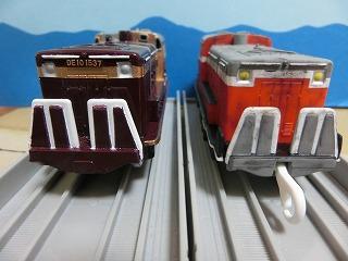 完成した「わたらせ渓谷鉄道 DE10」2両の並び