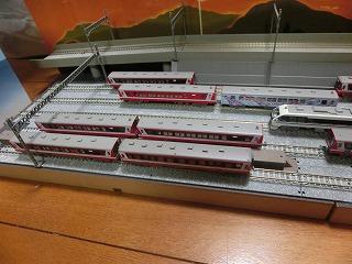 「撮影台兼留置線モジュール」に並べた鹿島臨海鉄道Nゲージ③