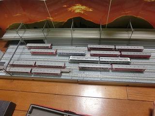 「撮影台兼留置線モジュール」に並べた鹿島臨海鉄道Nゲージ④
