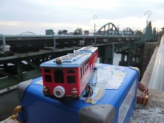 鉄橋脇(リメンブランツェ付近)で撮影の練習