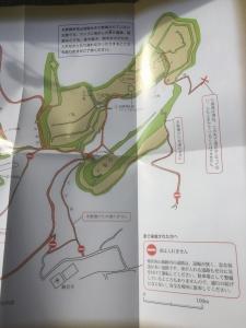 パンフレットの縄張図