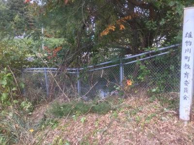 堀跡を利用した防火水槽か