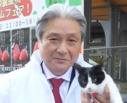 栃木県福田知事と猫ジャンヌダルク