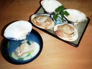 お吸物と焼き蛤