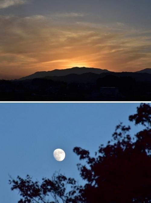 ⑧高松塚から夕陽月