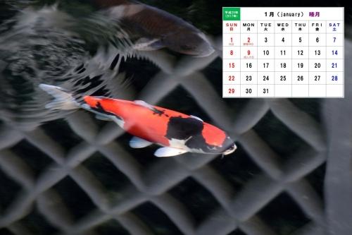 1月カレンダー1B