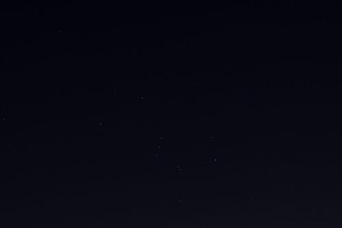 山焼き夜空