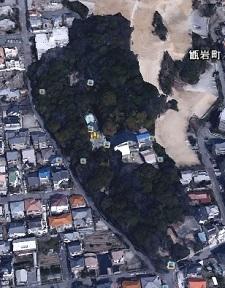 越木岩神社敷地