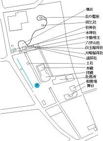 神社内配置図