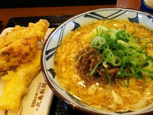 20170206 丸亀製麺肉たまあんかけうどん-crop