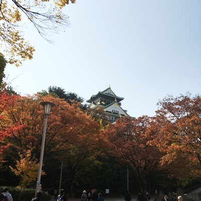 20161127紅葉大阪城