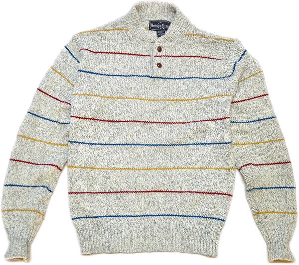 柄物ニットセーター画像コーデ2017冬@古着屋カチカチ08