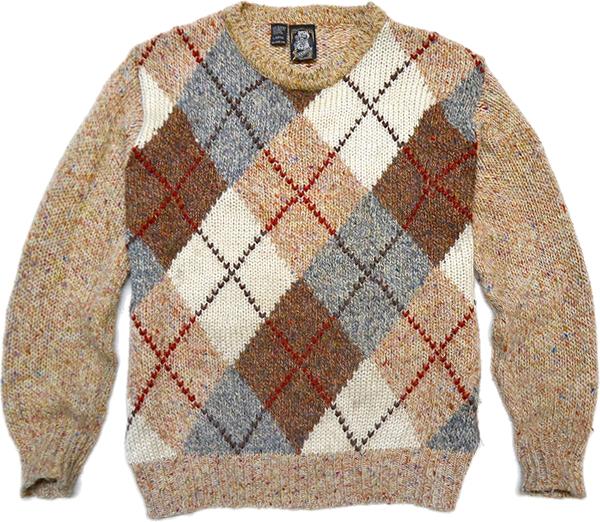 柄物ニットセーター画像コーデ2017冬@古着屋カチカチ010