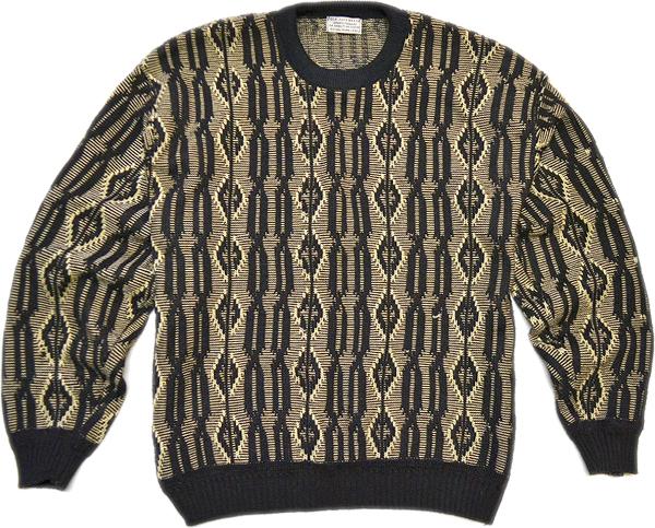 柄物ニットセーター画像コーデ2017冬@古着屋カチカチ011