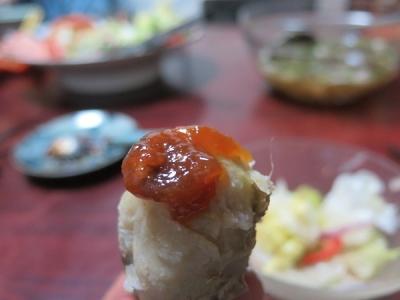 サトイモ、新潟のマメ味噌のせ