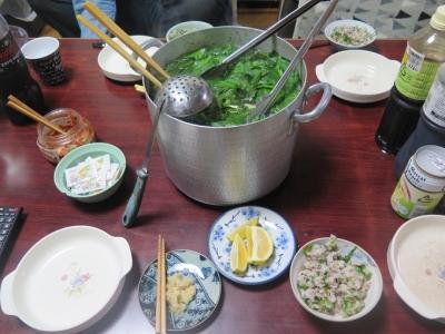 カブの菜飯と常夜鍋