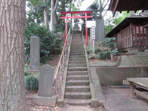 八王子神社富士塚登山口