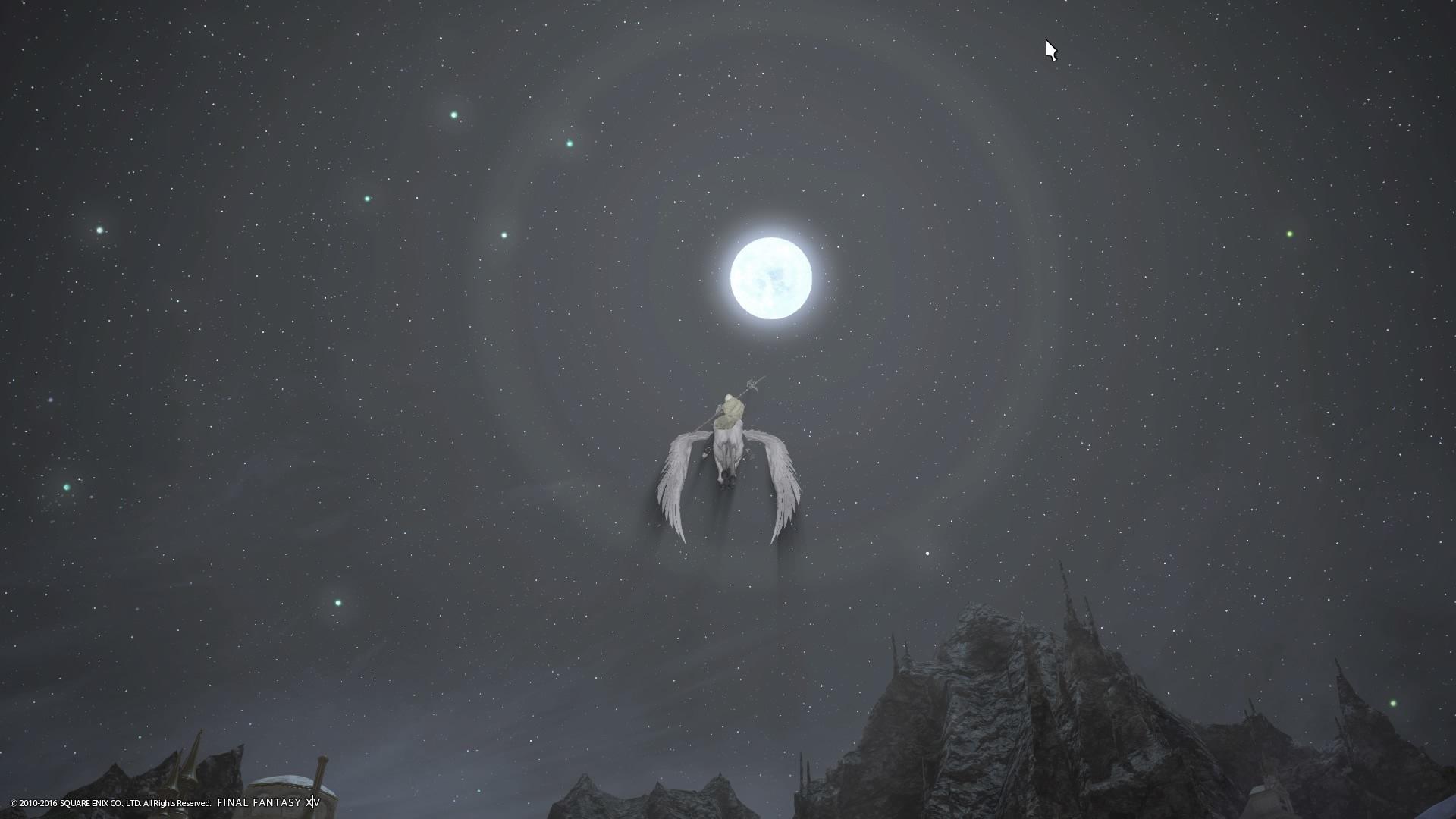 月に向かって飛ぶ