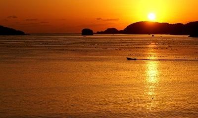 気仙沼大島の朝日