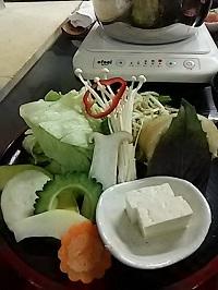 8 1日目夕食しゃぶしゃぶの野菜