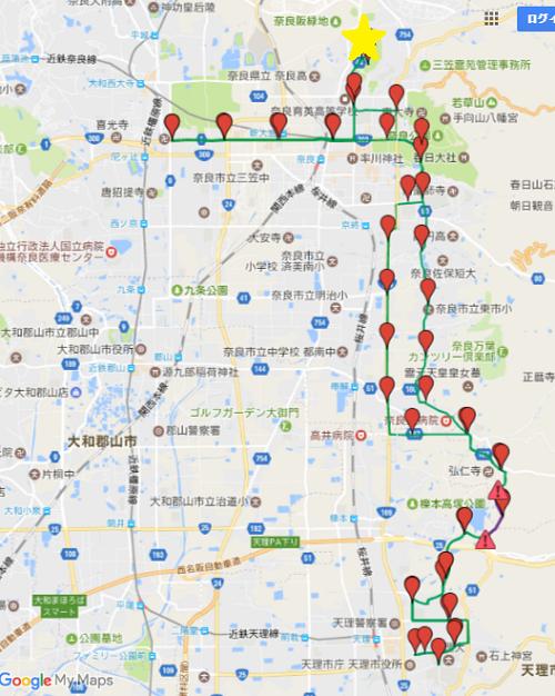 奈良マラソン地図