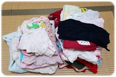 捨てる子供服