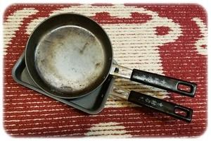 フライパンと卵焼き器