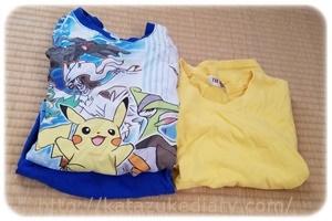 パジャマとTシャツ