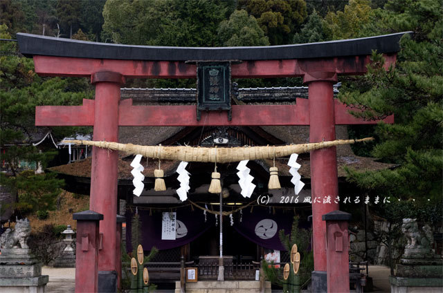 雨の日の白髭神社2