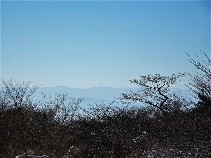 富士山がうっすらと