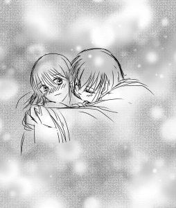 寝起きの二人