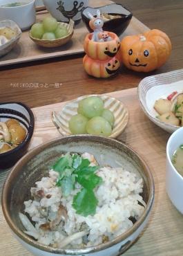秋刀魚ご飯の晩ごはん2