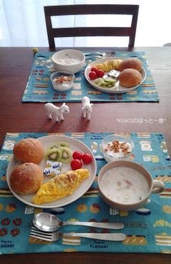 ミルクスープとミニオムレツ3