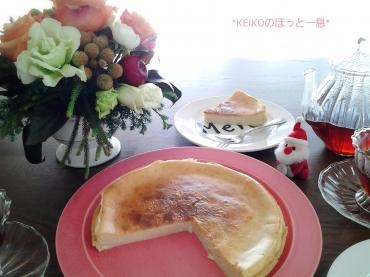 手作りチーズケーキとスパイス紅茶2