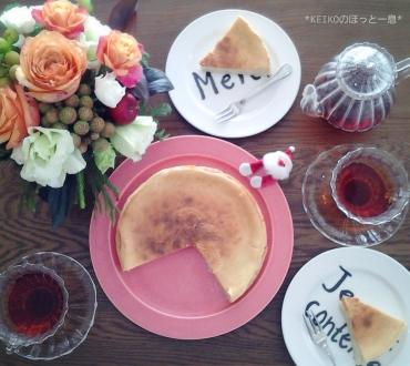 手作りチーズケーキとスパイス紅茶3