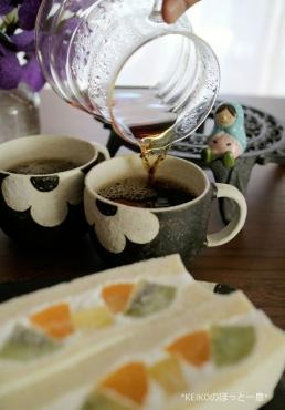 フルーツサンドとコーヒー2