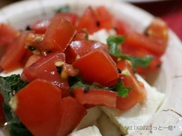 お豆腐とトマトのサラダ
