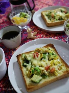 オープントーストと甘酒スープ