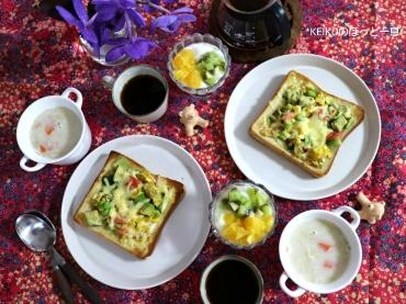 オープントーストと甘酒スープ3