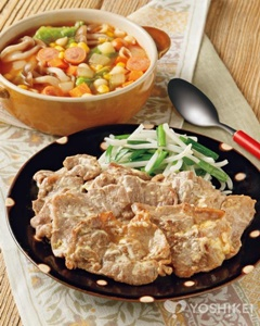 117117豚肉マヨ生姜焼き