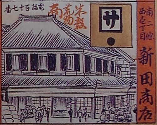 札幌区実業家案内双六 新田商店