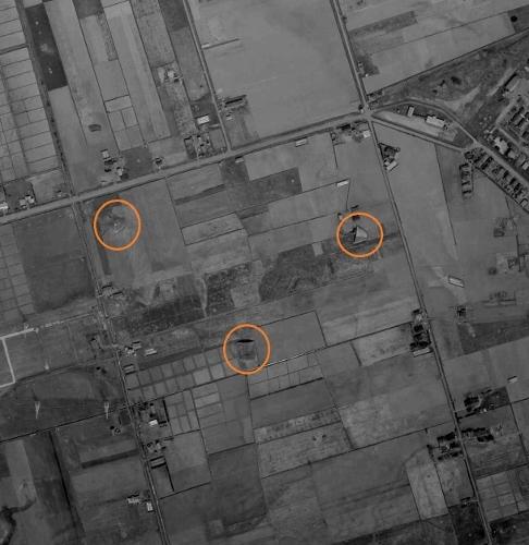 1961年空撮 北41条東16~19丁目 旧陸軍掩体跡