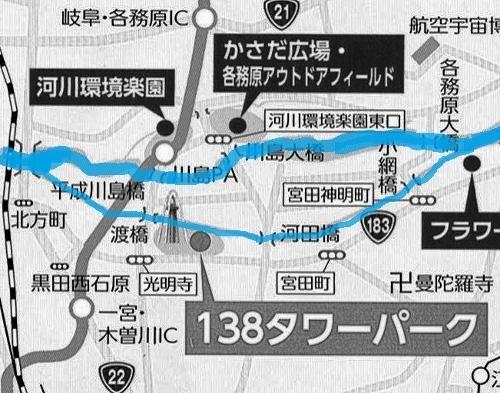 岐阜県 川島 地図